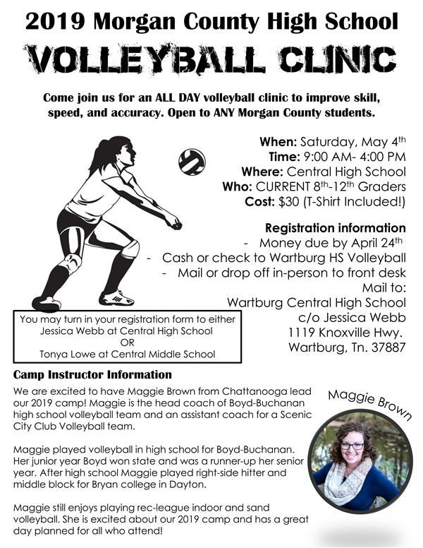 2019 Morgan County High School Volleyball Clinic