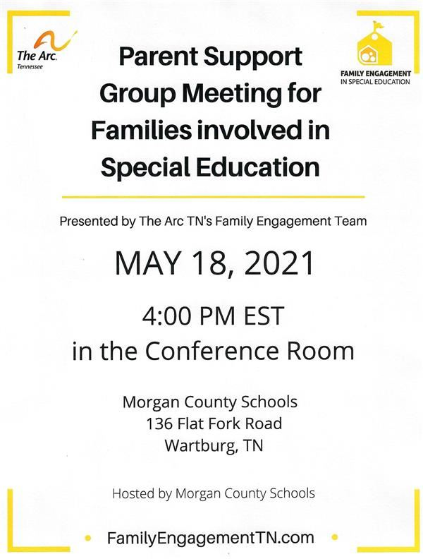 Parent Support Group Meeting for Families Involved in Special Education