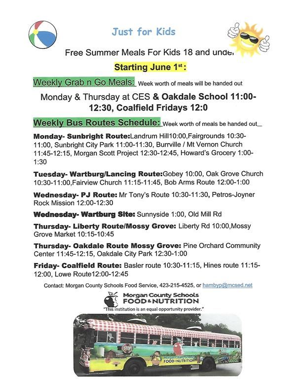 Morgan County Schools Summer Feeding Program